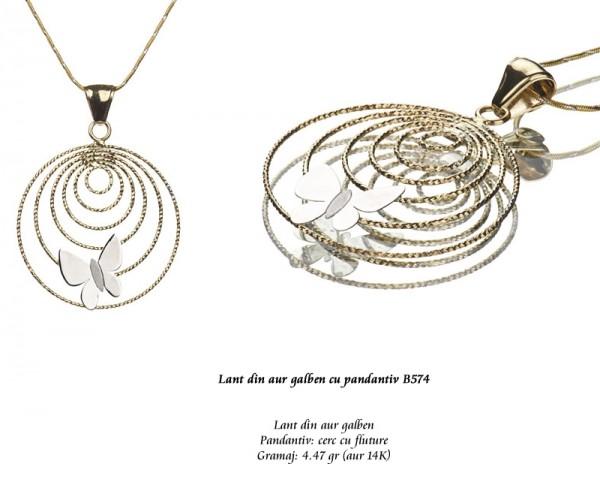 Lant-din-aur-galben-cu-pandantiv-B574