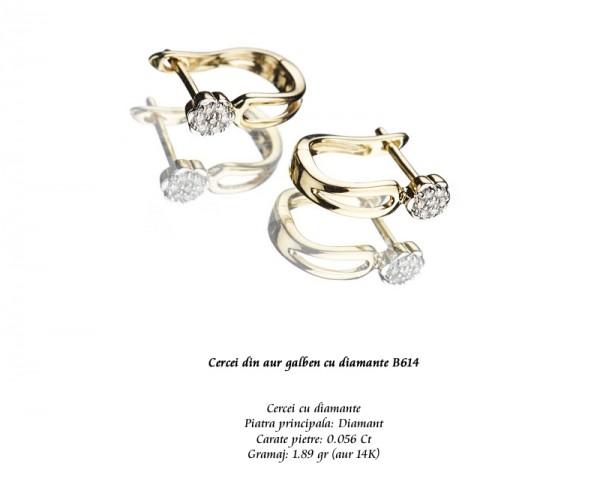 Cercei-din-aur-galben-cu-diamante-B614