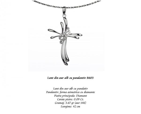 Lant-din-aur-alb-cu-pandantiv-B603
