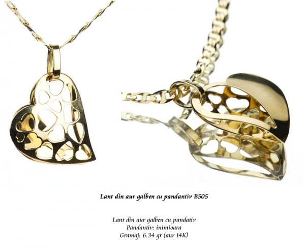 Lant-din-aur-galben-cu-pandantiv-B505